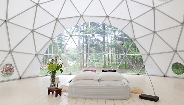 Glamping im Geo Dome